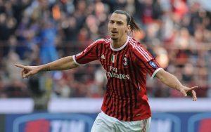 Zlatan Ibrahimovic ai tempi del Milan
