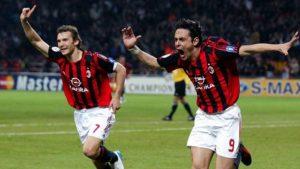 Sheva e Pippo Inzaghi ai tempi del Milan