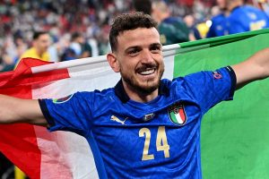 Florenzi festeggia la vittoria dell'Europeo (Fonte: laroma24.it)