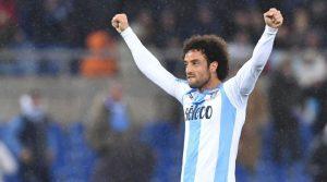 Felipe Anderson con la maglia della Lazio