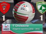 Perugia-Avellino 1-1, botta e risposta Arini-Dettori.