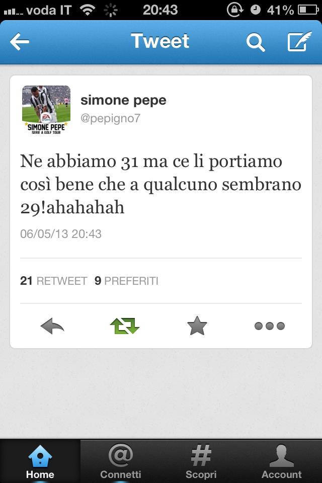 Il Tweet di Pepe