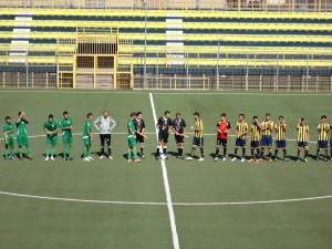Le squadre si presentano al pubblico (Miccio/TuttoCalciatori)